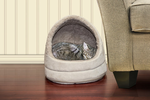 "14"" Snuggle Terry & Suede Hood Pet Bed"
