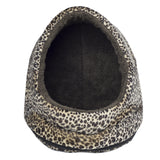 "14"" Animal Fur Hood Pet Bed"