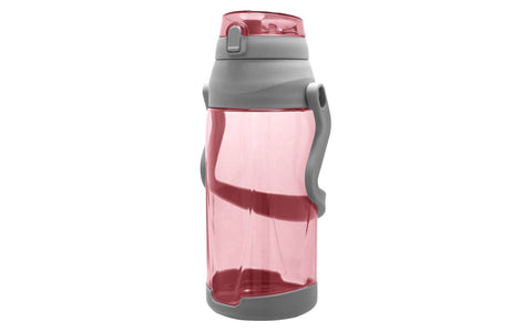 Wellness Large Water Bottle w/Handle and Leak-Proof Push Button Lid  88 oz.