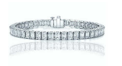28.00 Carat Luxury Emerald Cut Tennis Bracelet