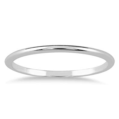 Skinny Thin Domed Stackable 14K Band