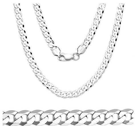 Men's 3mm Sterling Silver Chain Necklace