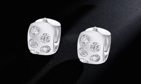 2.0 Carat Bezel Huggie Earrings