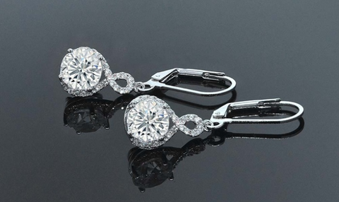 Infinity Crystal Drop Earrings