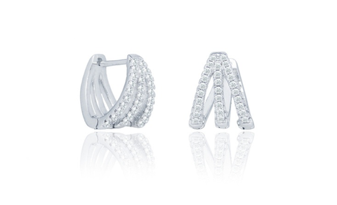 3.0 Carat Claw Hoop Earrings