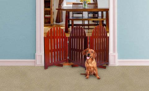 Freestanding Adirondack Wood Pet Gate