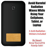 4 Pack Anti Radiation Stickers EMF Protection Shield