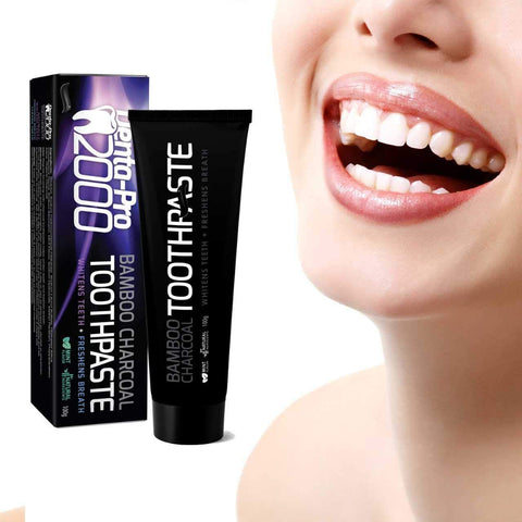 DentaPro Activated Bamboo Charcoal Teeth-Whitening Toothpaste With Mint Flavor
