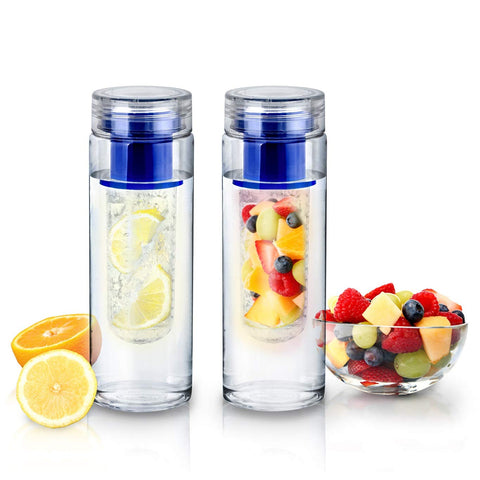 2-Pack INFUZE H2O Fruit-Infuser Water Bottle 25 oz.