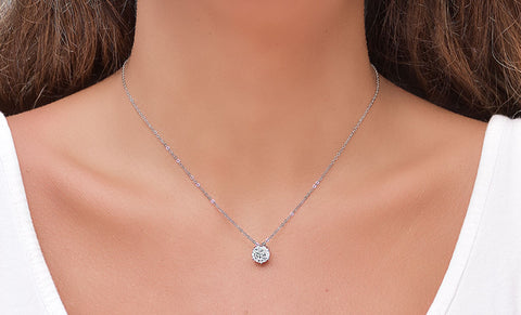 Solitaire Pendant made With Swarovski Crystal Elements 4 CTTW