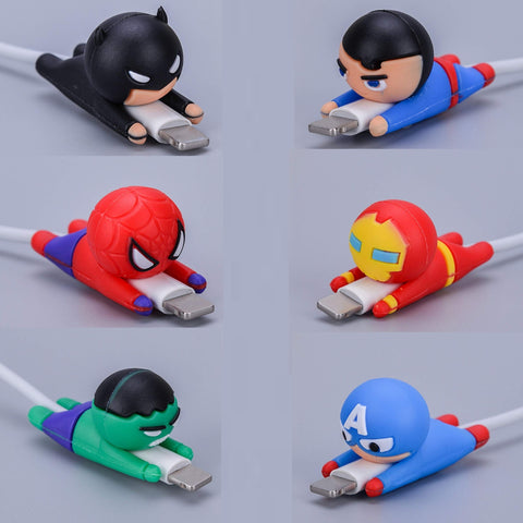 iPhone Superhero Cable Protectors