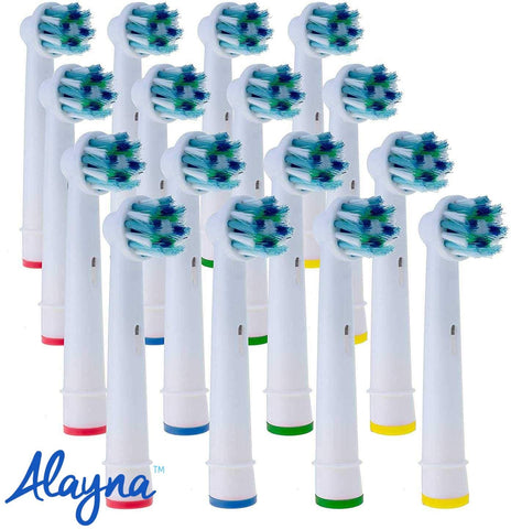Cross Action Replacement Heads Compatible With Oral B Toothbrushes- 16 pack