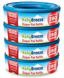 BabyBreeze Diaper Pail Refills Bags for Diaper Genie
