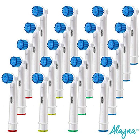 Alayna- Generic Replacement Oral B Compatible Brush Heads- 20 Pack