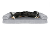Plush & Suede Cooling Gel Top Sofa Pet Bed