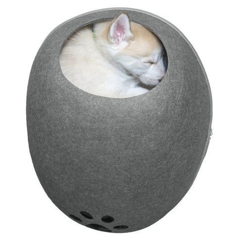 Oval Felt Cubby With Paw Cut-Out