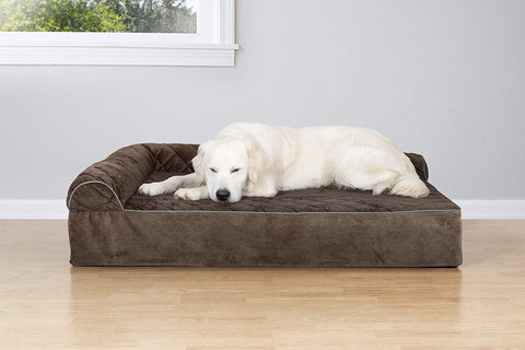 Quilted Faux Fur & Velvet Goliath Chaise Pet Bed