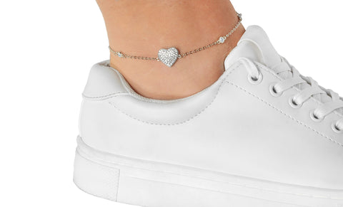 Swarovski Elements Crystal Ankle Bracelets