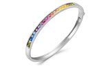 Crystal Rainbow Bangle in 14K Gold