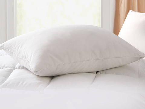 Geneva White Goose Feather & Down Pillow
