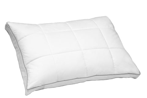 Zurich Quilted White Goose Feather & Down Compartment Pillow