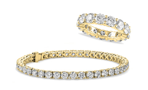 Swarovski Elements Eternity Ring and Tennis Bracelet Set (2 Pack)