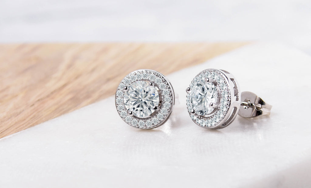 5fc64bd6a Halo Stud Earrings made With Swarovski Elements – Tippit