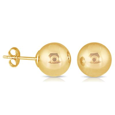 8MM 14K Yellow Gold Filled Ball Earrings