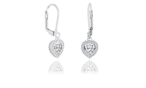 Swarovski Elements Prong Halo Drop Earrings