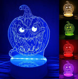 3D Halloween Smart-Touch 7-Color LED Light