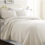 Home Collection Premium Ultra Soft Herring Pattern Quilted Coverlet Set