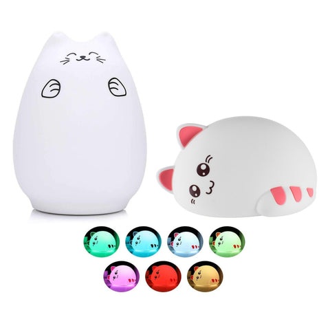 2-Pack Silicone Touch-Sensor Night Light