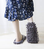Plush Mop Slippers w/ Detachable Mop Covers
