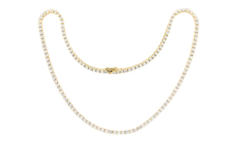 42.0 Carat Cubic Zirconia Tennis Necklace