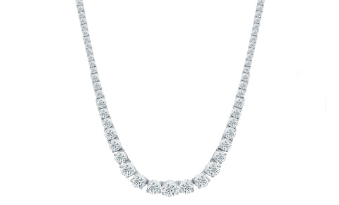 Sparkling Graduated Tennis Necklace