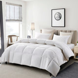 Serta White Goose Feather & Down Fiber Comforter