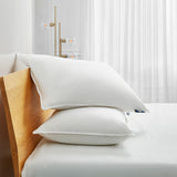 2 Pack Serta White Goose Feather & Down Fiber Bed Pillow- Back Sleeper