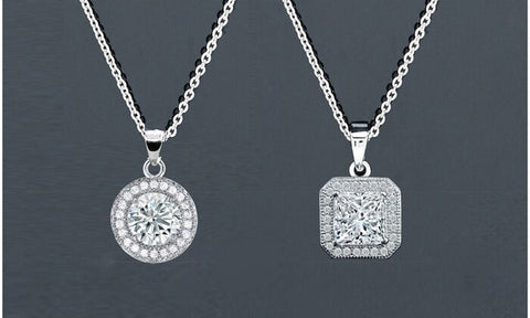 Halo Pendant Necklace Set (2 Pack)