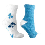 "Women's Lavender Infused ""Bows"" Slipper Socks, 2-Pair Pack with Lavender Sachet"