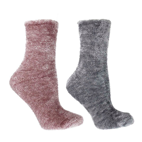 Women's Lavender Infused Slipper Socks, 2-Pair Pack with Lavender Sachet