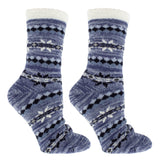 Women's Double Layer Aspen Non-Skid Warm Soft and Fuzzy Eucalyptus Mint and Shea Butter Infused Slipper Socks Gift