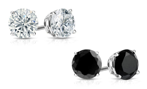 Swarovski Elements 2 Pack Stud Earrings Set in Sterling Silver