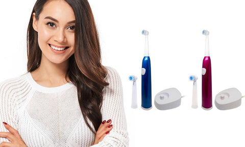 Professional Electric Toothbrush with Rechargeable Base