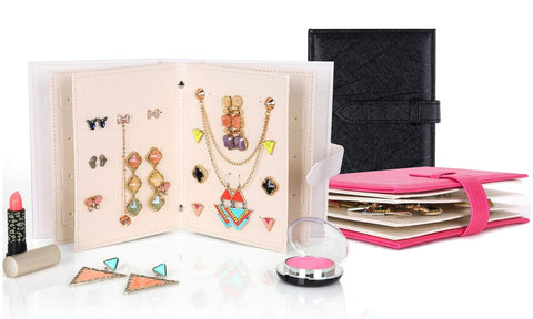 Portable Travel Jewelry Case & Organizer