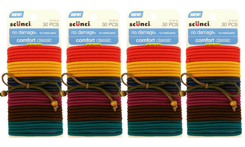 Scunci No Damage Comfortable Elastic Ponytail Hair Ties