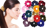 Soft Velvet Elastics Scrunchies Hair Ties (18-Pack)