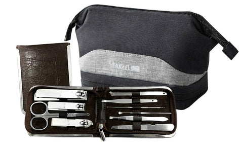 Mani-Pedi Tool Kit and Toiletry Bag (11-Piece)