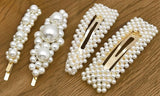 4- or 8-Piece Pearl Hair Clips