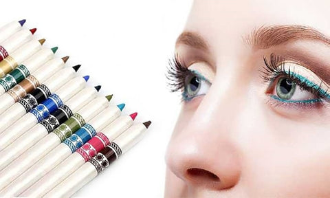 Professional Cosmetic Multicolor Eyeliner Pencils