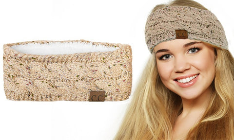 Cable-Knit Fuzzy Headband